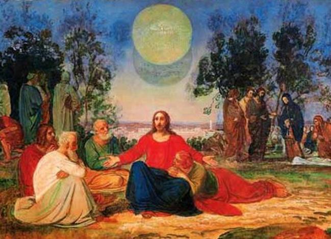 Pregação de Cristo no Monte das Oliveiras sobre a segunda vinda, 1840 - Alexander Ivanov