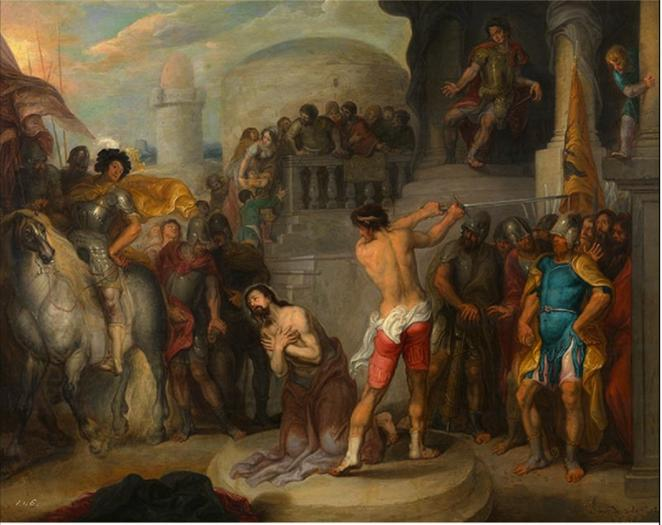 File: Simon de Vos - a decapitação de St. Paul.png