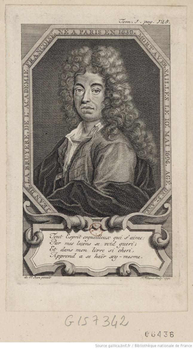 Portrait de Jean de Labruyère, en buste, de 3/4 dirigé à gauche dans une bordure octogone : [estampe]