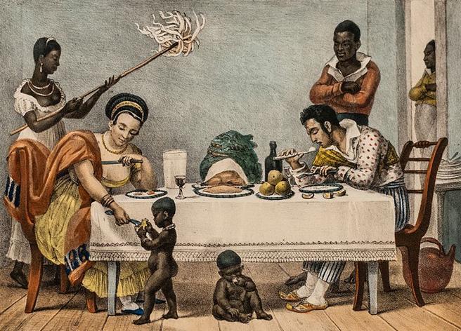 File: Uma família brasileira no Rio de Janeiro por Jean-Baptiste Debret 1839.jpg