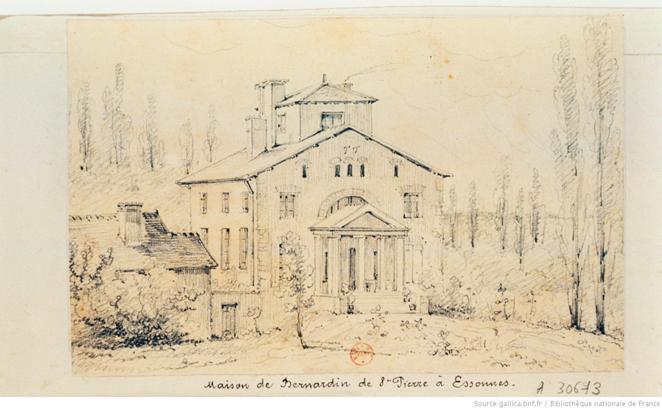 [Casa Bernardin-de-Saint-Pierre em Corbeil-Essonnes]: [desenho] / [Auguste Jacques Régnier]
