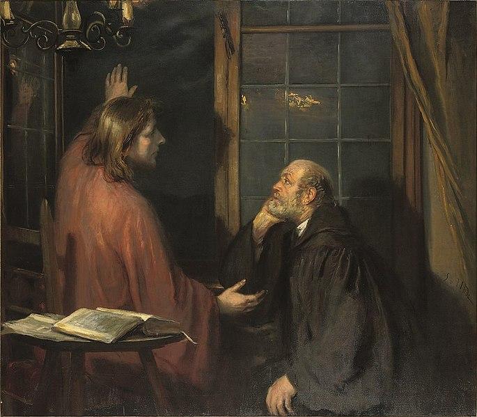 Ficheiro: Fritz von Uhde - Christus e Nikodemus (ca.1886) .jpg