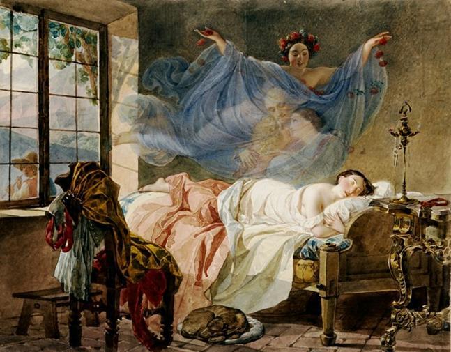 File: Briullov, Karl - um sonho de uma garota antes de um Sunrise.jpg