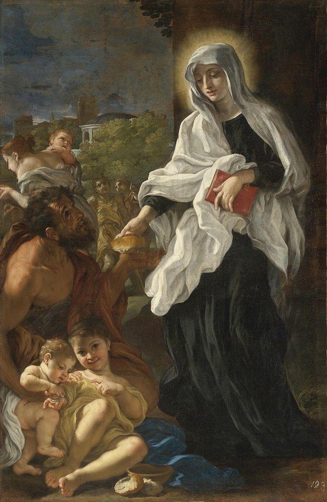 https://upload.wikimedia.org/wikipedia/commons/thumb/6/68/Baciccio-Saint_Francesca_Romana_Giving_Alms.jpg/667px-Baciccio-Saint_Francesca_Romana_Giving_Alms.jpg