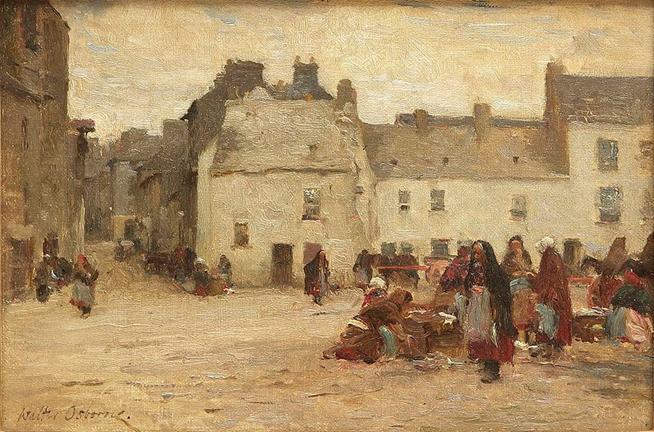 File:Walter Osborne Galway Market Scene.jpg