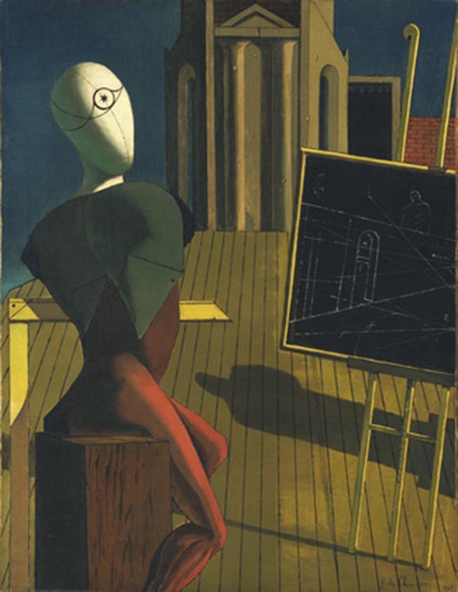 File: Giorgio de Chirico, 1914-15, O Vidente, óleo sobre tela, 89,6 x 70,1 cm, Museu de Arte Moderna, Nova York.jpg