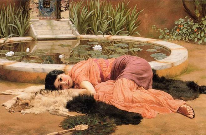 File: John William Godward - Dolce Far Niente (1904). Jpg