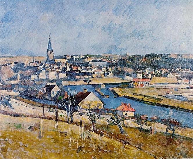 File: Melun visto de Le Mée-sur-Seine, por Paul Cézanne.jpg