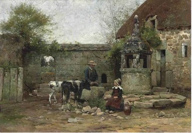 File:Walter Osborne A Grey Morning in a Breton Farmyard.jpg